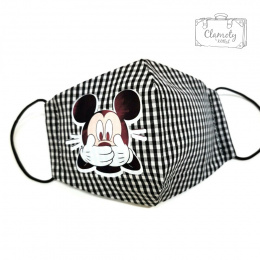 GRAY COTTON PROTECTIVE MASK